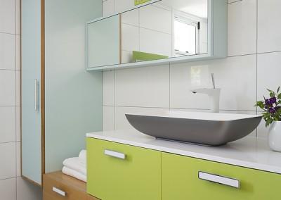 שירלי נחמנה - אמבטיה ירוק , תכלת ופורניר אלון