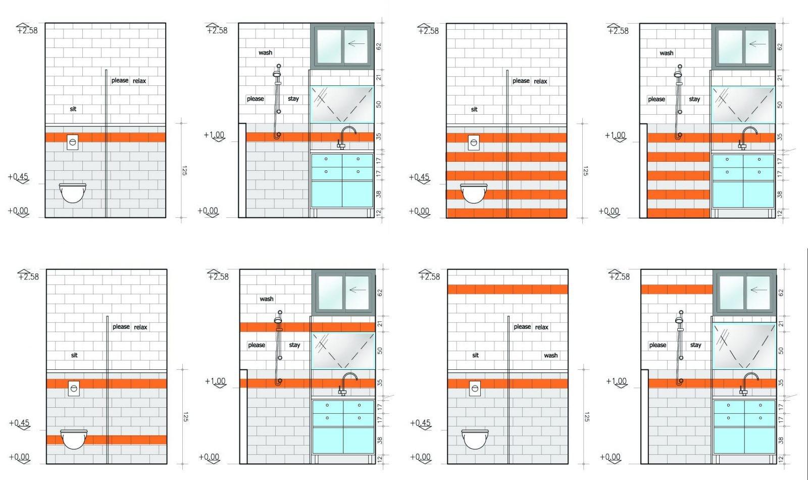 חלופות עיצוביות לחדר אמבטית ילדים